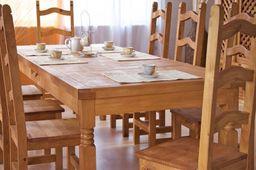 Esstisch 200x100 + 6 Stühle Hacienda massiv Holz Essgruppe Esszimmergarnitur – Bild 2