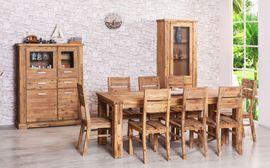Essgruppe 160/210 x 90 ausziehbar + 8 Stühle Colorado massiv Holz Esszimmergarnitur – Bild 1