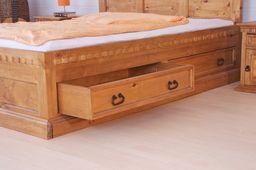 Bett 180 x 200 Hacienda Mojito massiv Pinie Holz Moebel Doppelbett dunkelbraun – Bild 3
