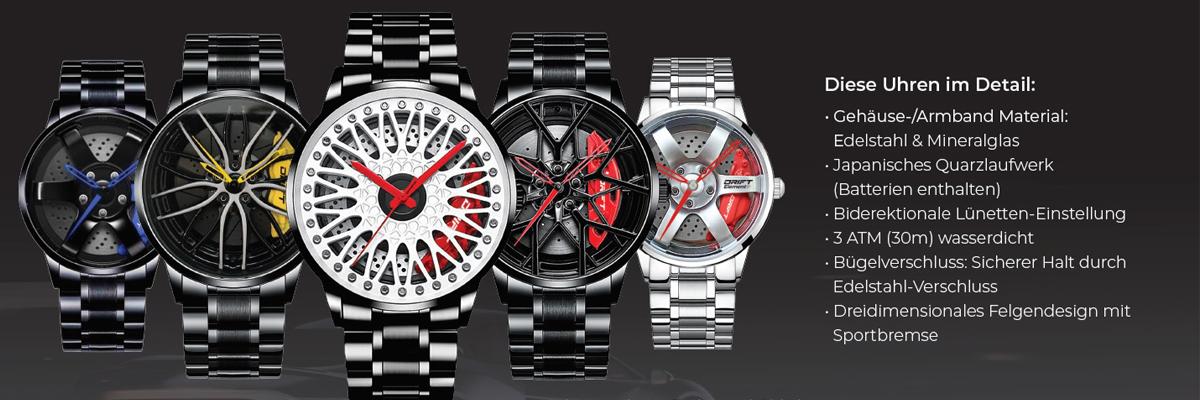 Armbanduhren neu im Programm