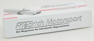 Friedrich-Motorsport Duplex Sportendschalldämpfer für Chevrolet/Daewoo Aveo, 1.2l 62kW / 1.4l 74kW