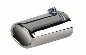 Auspuffblende BASIC-LINE oval/schräg, für Auspuff-Durchmesser 32-50 mm
