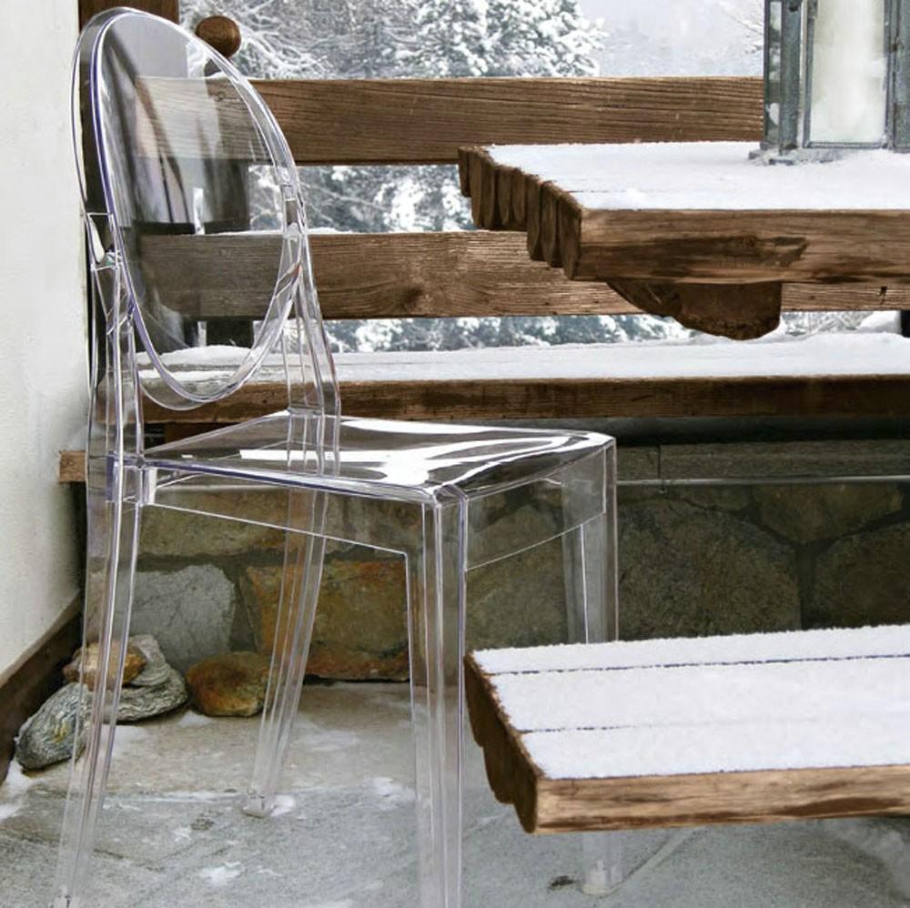Kartell Victoria Ghost Stuhl Sitzmöbel Stühle
