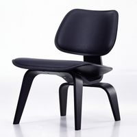 Vitra Lounge Chair Wood (LCW Leather) Loungestuhl