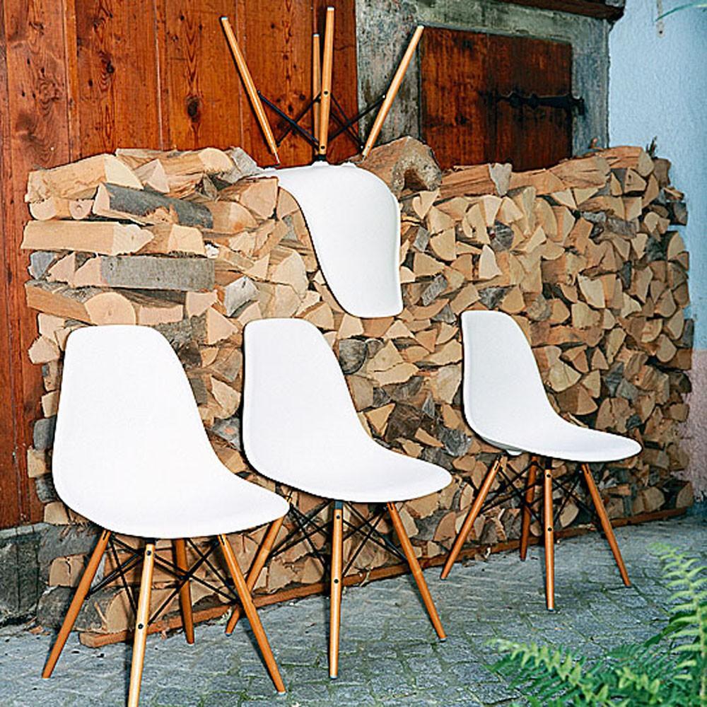 Vitra Eames Plastic Side Chair Dsw Objektstuhl Sitzmöbel Besucher