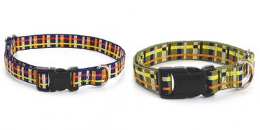 Hundehalsband Playful Plaid - Moss – Bild 2