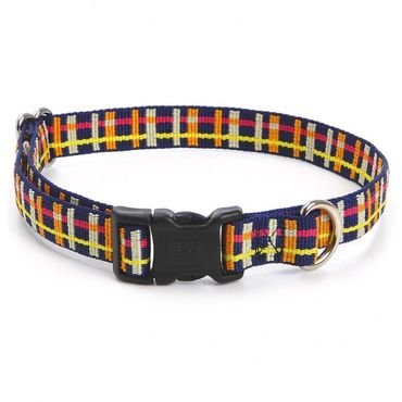 Hundehalsband Playful Plaid - Navy – Bild 1