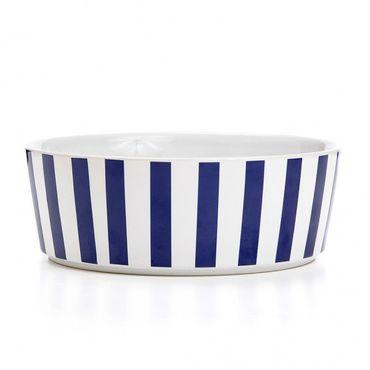 "Fressnapf ""Stripey Soiree"" aus Keramik - Navy – Bild 1"