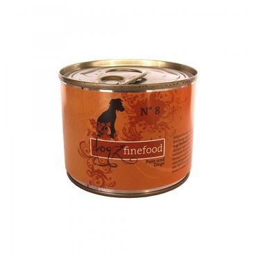 Dogz finefood No. 8 Pute & Ziege 200g – Bild 1