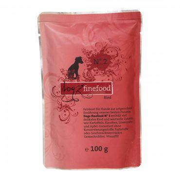 Dogz finefood No. 2 Rind 100g – Bild 1