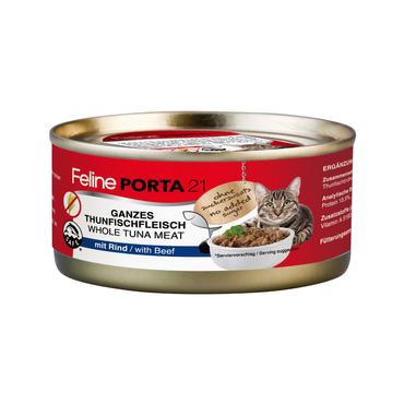 Feline Porta 21 Thunfischfleisch mit Rind 6 x 156g Sparpaket – Bild 1