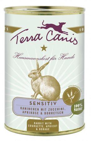 Terra Canis Menü Sensitive getreidefrei Kaninchen mit Zucchini, Aprikose, Borretsch 6 x 400g Sparpak – Bild 2