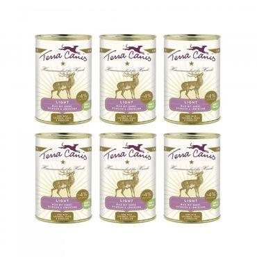 Terra Canis Menü Light Wild Light mit Gurke, Pfirsich und Löwenzahn 6 x 400g Sparpaket – Bild 1
