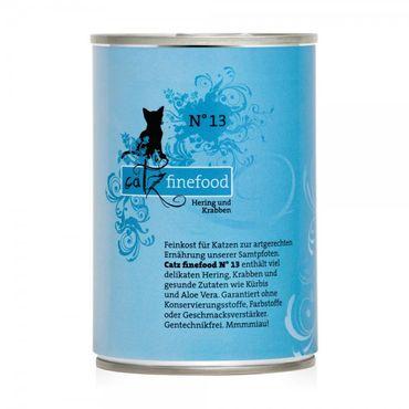 Catz finefood No. 13 Hering & Krabben 400g – Bild 1