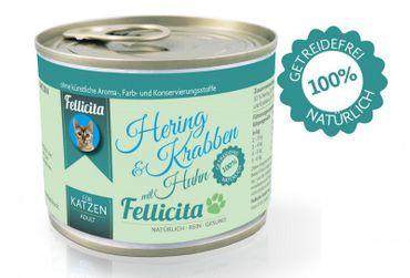 Fellicita 6 x 200g Huhn pur und 6 x 200g Hering, Krabben & Huhn Sparpaket ( - 5% Rabatt) – Bild 2