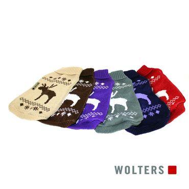 Wolters Strickpullover Elch Beige/Braun – Bild 3