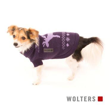 Wolters Strickpullover Elch Brombeer/Lavendel – Bild 2