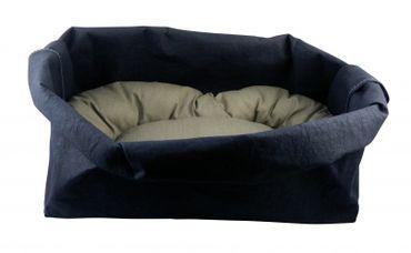 Ecofool - Hundekörbchen Medium Dunkelblau oder Sand – Bild 2