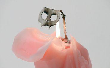 "Pyro Pet Kerze Katze ""Kisa"" - Pink – Bild 2"