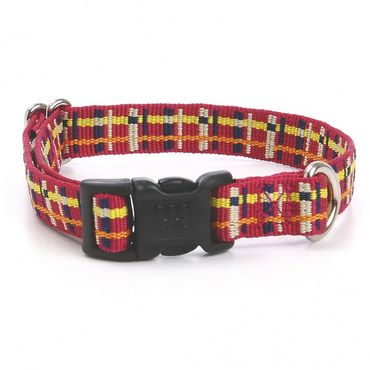 Hundehalsband Playful Plaid - Maroon – Bild 1