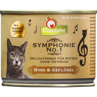 Granata Pet Symphonie Nr. 1 Rind und Geflügel 6 x 200g Sparpaket – Bild 1
