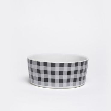 Fressnapf Buffalo Plaid Bowl aus Keramik - Cream