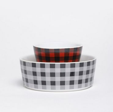 Fressnapf Buffalo Plaid Bowl aus Keramik - Cream – Bild 2