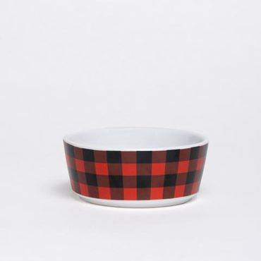 Waggo - Fressnapf Buffalo Plaid Bowl aus Keramik - Red – Bild 1