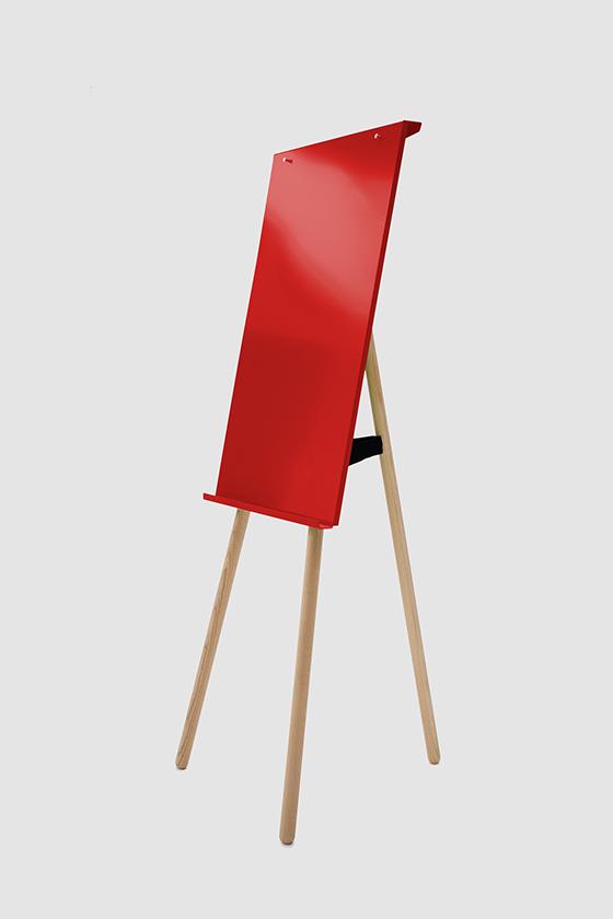 Flipchart Foldable, rot, Holzbeine Esche