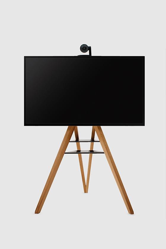Monitorständer-Design-Holz-schwarz