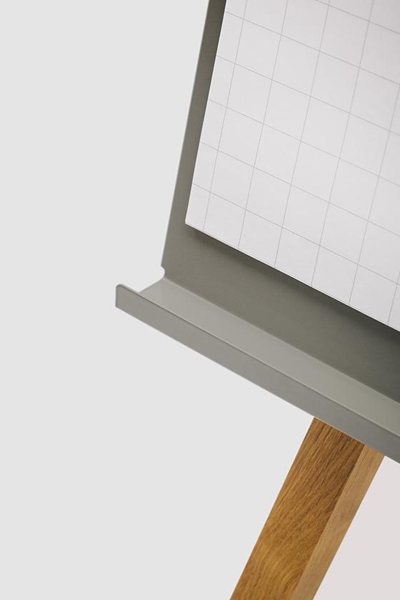 Flipchart-Design-Holz-magnetisch-Charter-grau