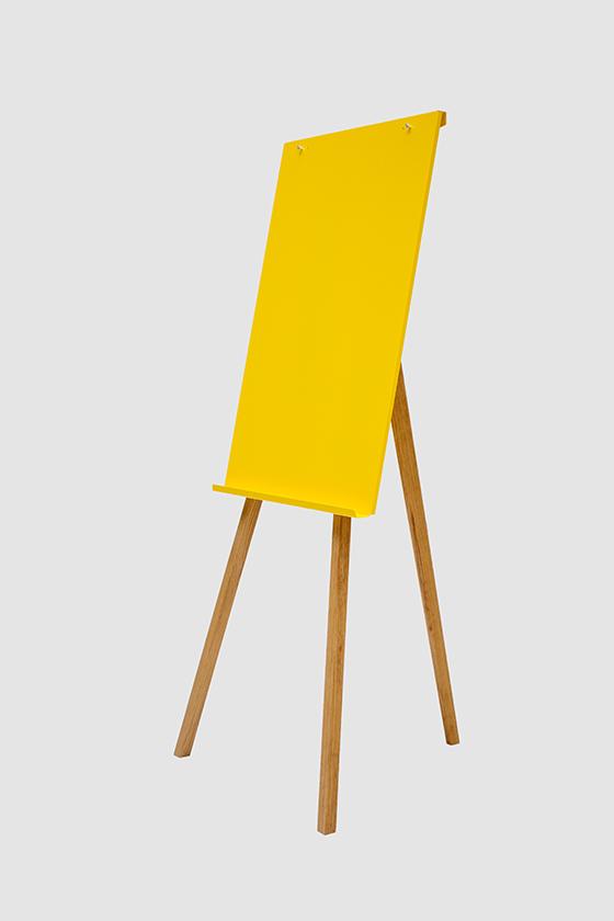 Flipchart-Design-Holz-magnetisch-Charter-gelb