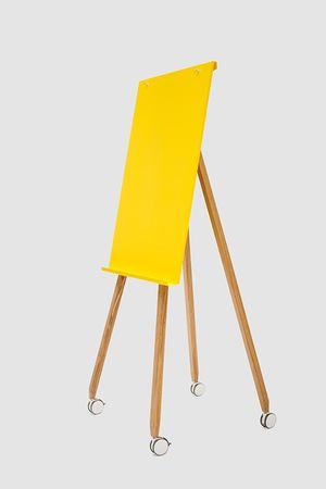 Flipchart-Design-Holz-magnetisch-mobil-Freewheelin-gelb