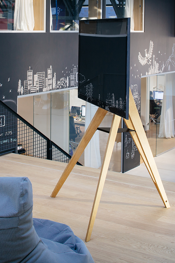 Screen Rack-Monitorständer-Holz-Design-Front Row