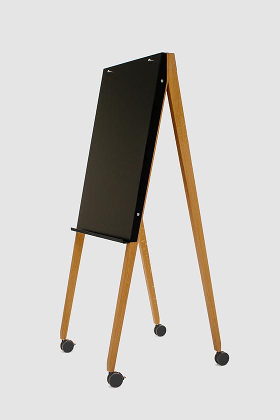 Flipchart-Design-Holz-magnetisch-mobil-Charter on Tour-schwarz