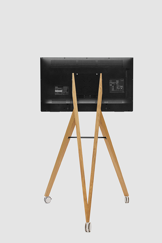 Screen Rack-Monitorständer-Holz-Design-mobil-Front Row on Tour