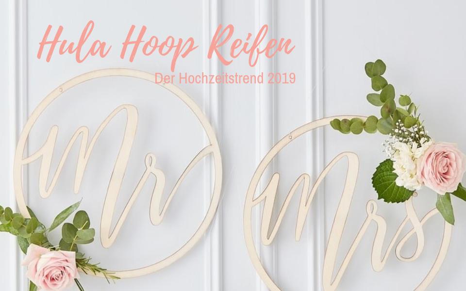 Hula Hoop Reifen Mr & Mrs Hochzeits-Deko aus Holz