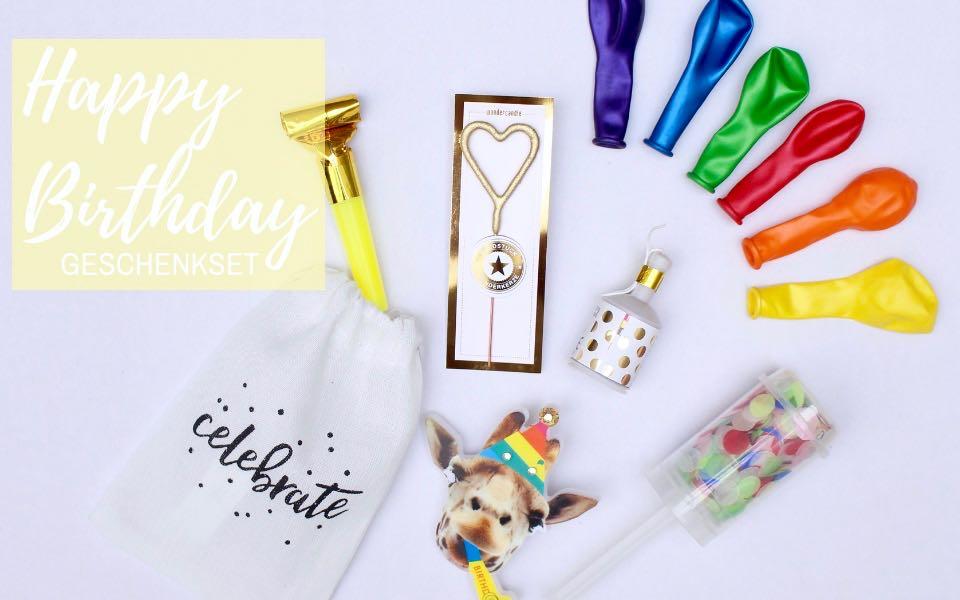 """12-teiliges Set Geburtstagsgeschenk """"Birthday in a bag"""""""