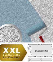 Vliestapete zum Überstreichen EDEM 307-70 XXL dicke stabile streichbare Tapete rauhfaser-putz-muster weiß 001