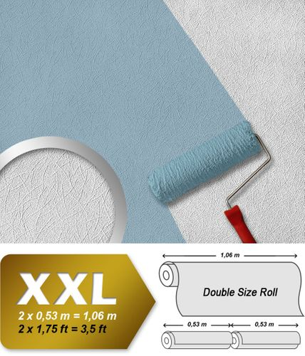 Wall wallpaper non woven wallcovering EDEM 379-60 paintable XXL textured ceiling white