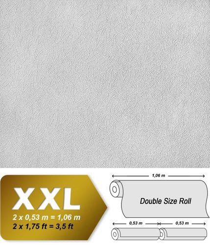 Papel pintado no tejido blanco pintable EDEM 379-60 con textura decorativa de brotes 26,50 m2 – Imagen 2