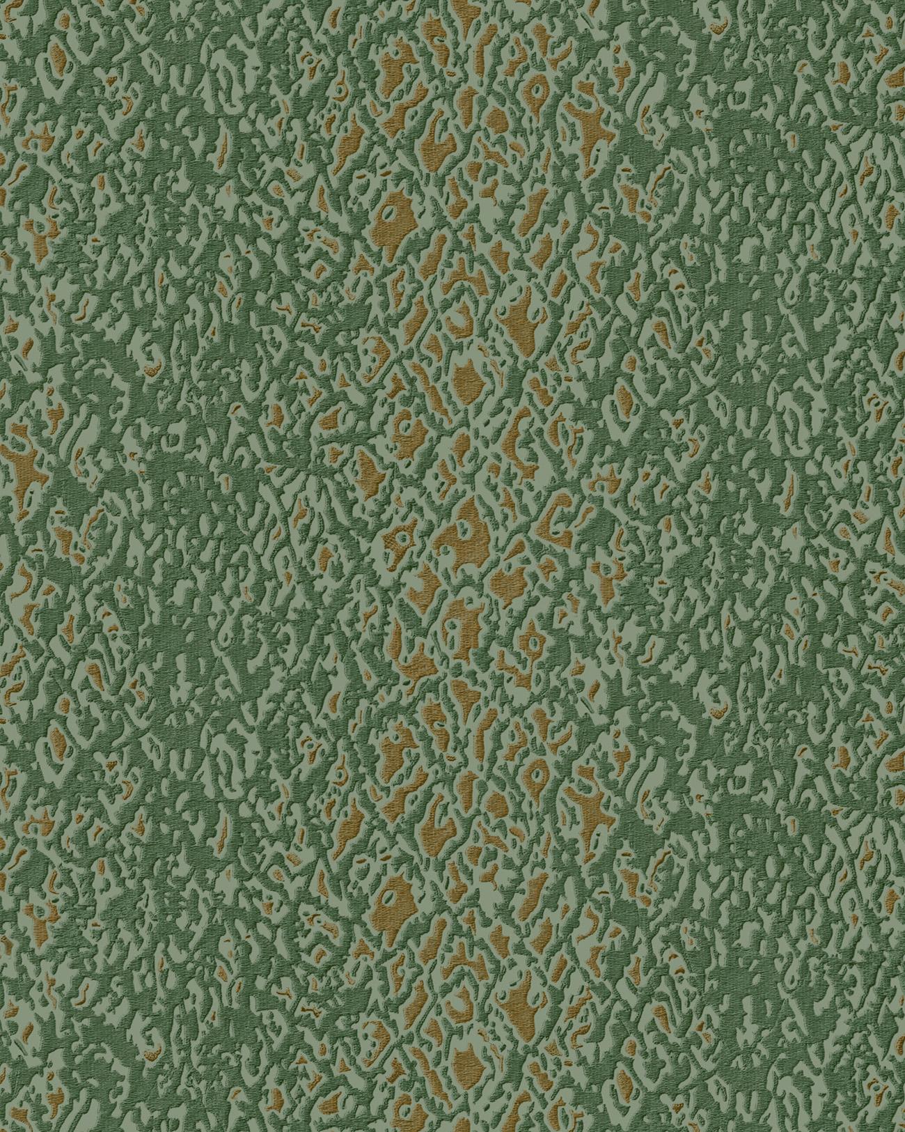 Tiermotiv Tapete Profhome De120128 Di Heissgepragte Vliestapete Gepragt Mit Schlangenmuster Glanzend Grun Gold 5 33 M2 Profhome Shop