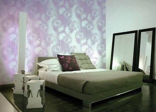 Retro Wallcovering flower wallpaper wall vinyl wallpaper wall EDEM 030-25 cream-white green light olive  – Bild 3