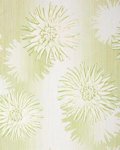 papel pintado retro floral patrn edem de flores en verde pastel oliva claro