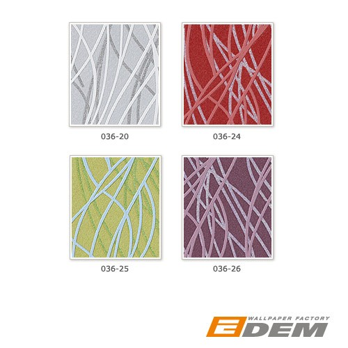 Wall covering paper abstract stripe wallpaper EDEM 036-26 violet rosa pink blue-grey  – Bild 4