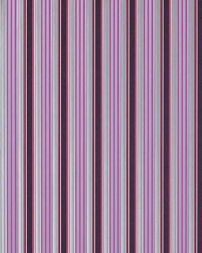 Deep embossed wall wallpaper EDEM 825-29 Wall covering stripe heavyweight violet lilac syringa silver-grey white  – Bild 1