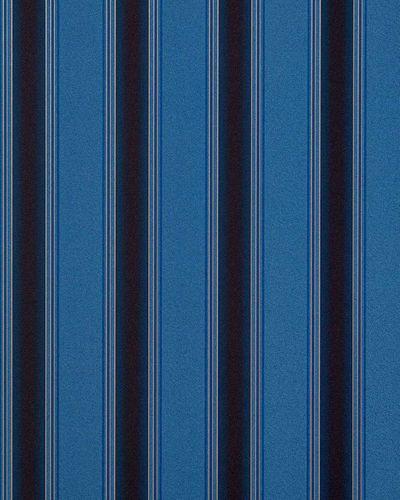 Streifen Tapete EDEM 827-24 hochwertige geprägte Tapete barock opulence opulence blau königsblau dunkelbraun gold 70 cm – Bild 1