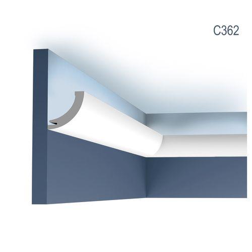 Stuck Wandleiste Orac Decor C362 LUXXUS Eckleiste Zierleiste für indirekte Beleuchtung Wand Dekor Leiste | 2 Meter – Bild 1
