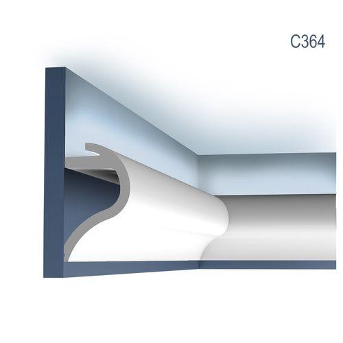 Stuck Wandleiste Orac Decor C364 LUXXUS Eckleiste Eckelement Eckstück Dekor Ecke für Stuckleiste Zierleiste 2 Meter – Bild 1