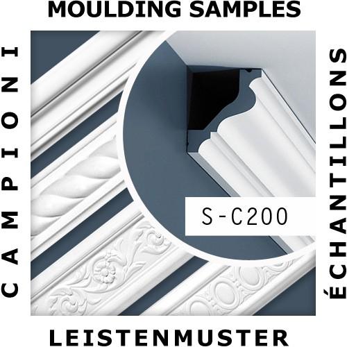 1 MUSTERSTÜCK S-C200 Orac Decor LUXXUS | MUSTER Eckleiste Stuckleiste ca. 10 cm lang – Bild 2